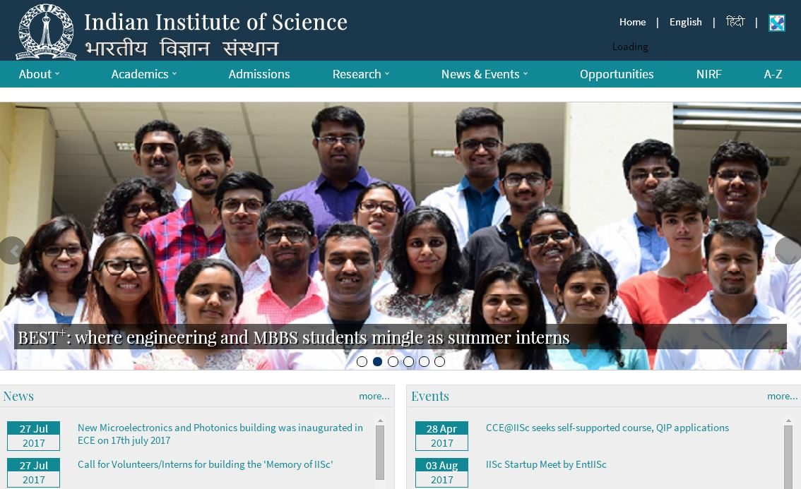 印度科学理工学院 印度科学研究所 indian institute of science