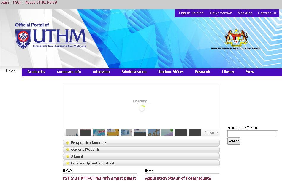 敦胡先(xian)翁(weng)大學(Universiti Tun Hussein Onn Malaysia,簡稱敦大)