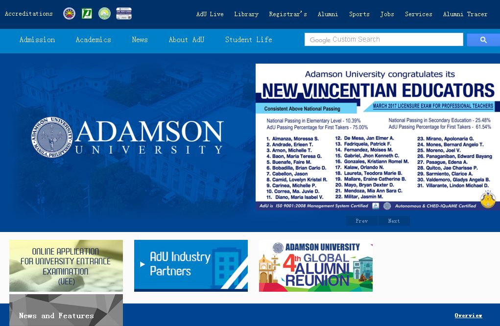 亞當森大(da)學(Adamson University)