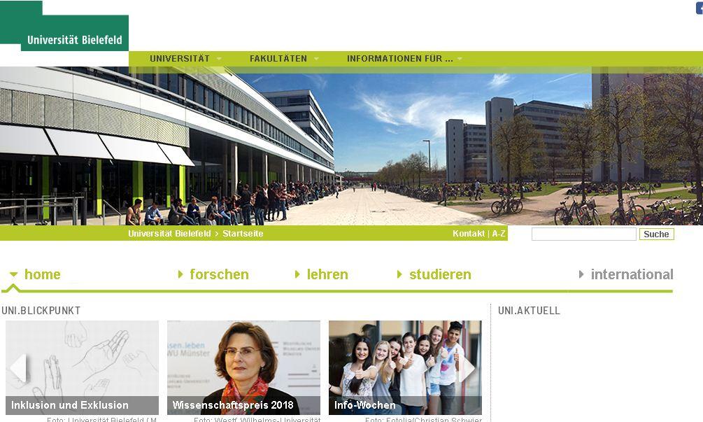 德(de)國比勒費xun)er)德(de)大(da)學 Universit?t Bielefeld