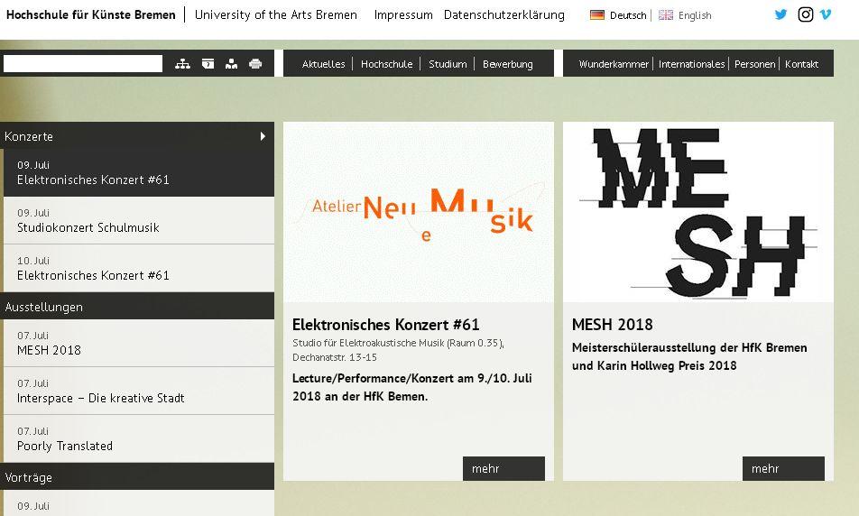 德(de)國不(bu)來梅(mei)藝(yi)術學院 Hochschule f r K nste Bremen