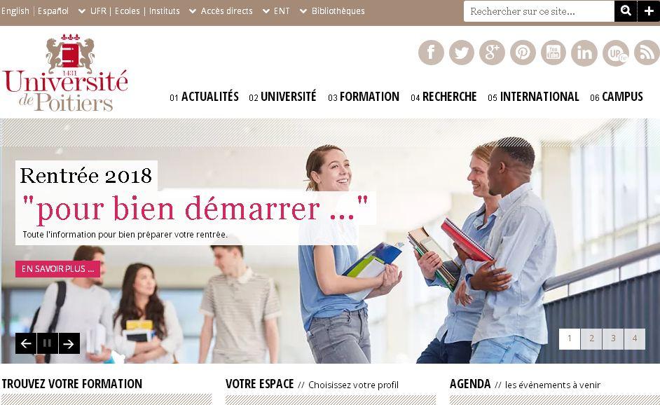 普瓦(wa)提埃大學(xue) Poitiers University,universit  de poitiers