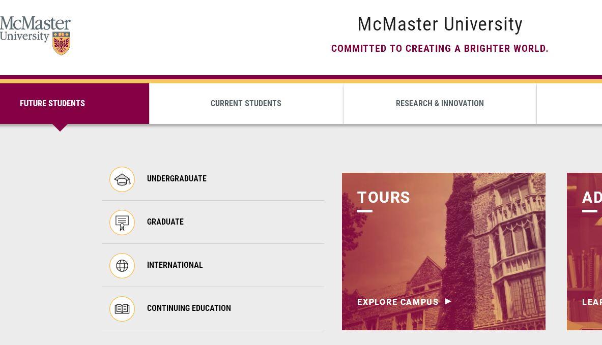 麥克馬斯(si)特大(da)學 mcmaster university