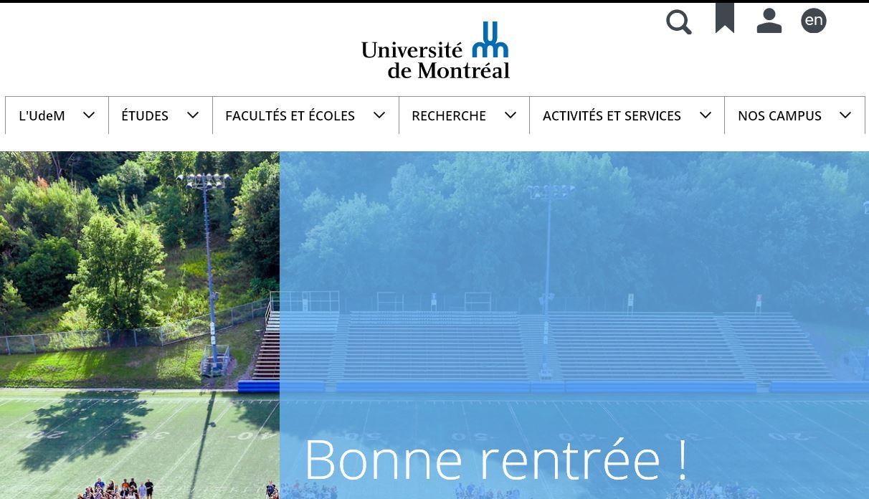 蒙特利爾大(da)學 Universit  de Montr al / UdeM