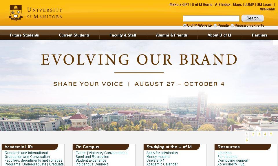 曼尼托(tuo)巴大(da)學 University of Manitoba