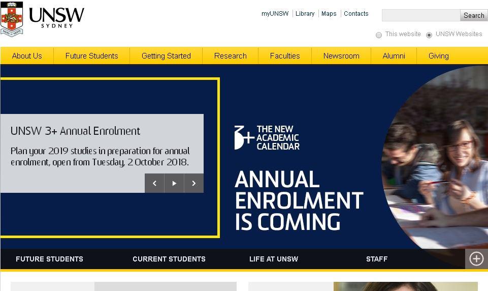 新南威爾士大(da)學UNSW Sydney Australia's Global University
