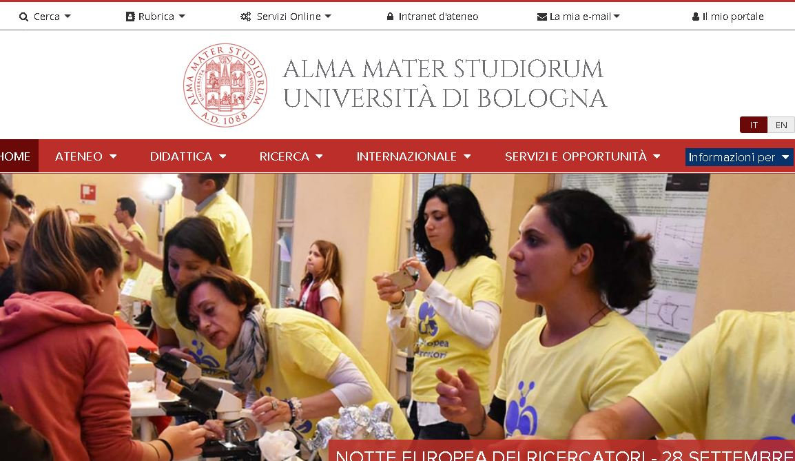 博洛尼亚大学 University of bologna