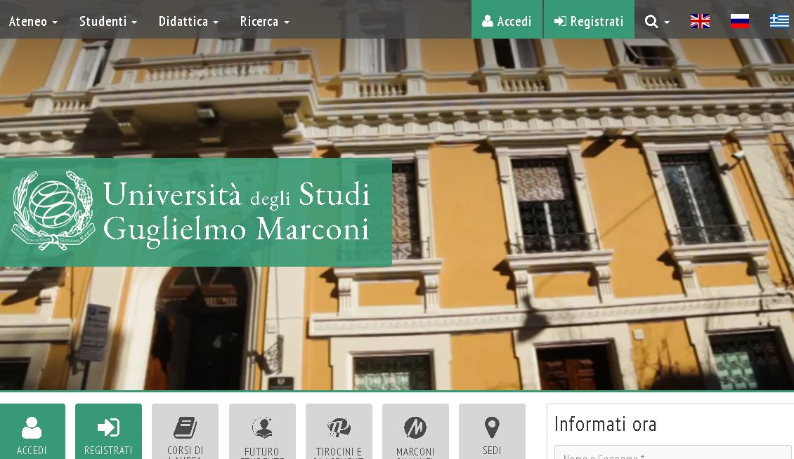 古列尔莫·马可尼大学 University of guglielmo Marconi