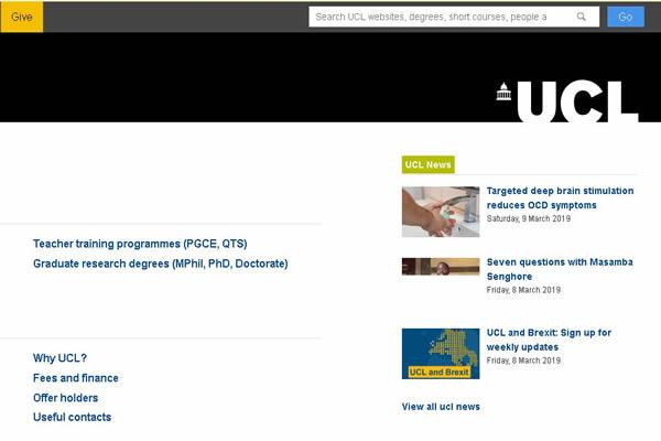 英(ying)國倫(lun)敦大學 UCL London's Global University